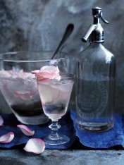 rose petal and prosecco punch