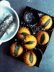 sage and polenta madeleines