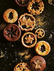 sour cherry, ginger and chocolate mince pies