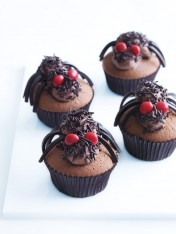 halloween scary spider cupcakes