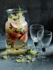 white peach and elderflower cooler