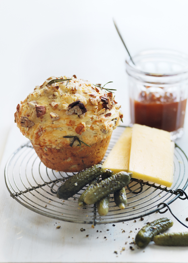 Rosemary Cheddar And Pecan Damper Muffins | Donna Hay