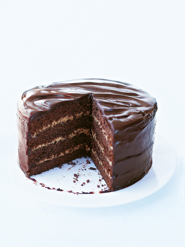 home / recipes / / mocha chocolate layer cake