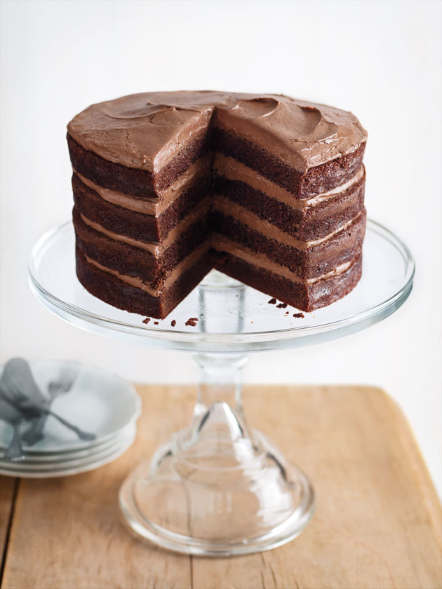 Chocolate Buttermilk Layer Cake | Donna Hay