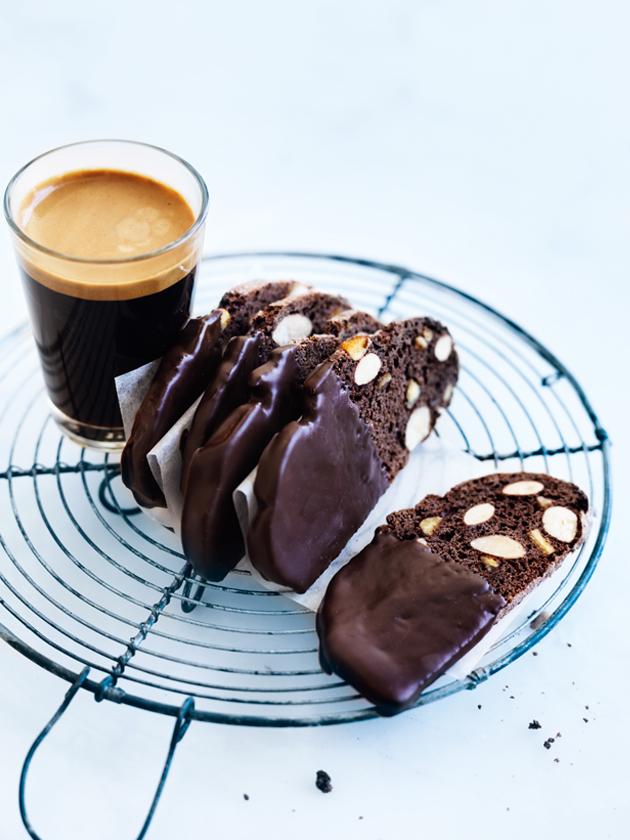 Chocolate Orange Biscotti With Almonds Recipe — Dishmaps