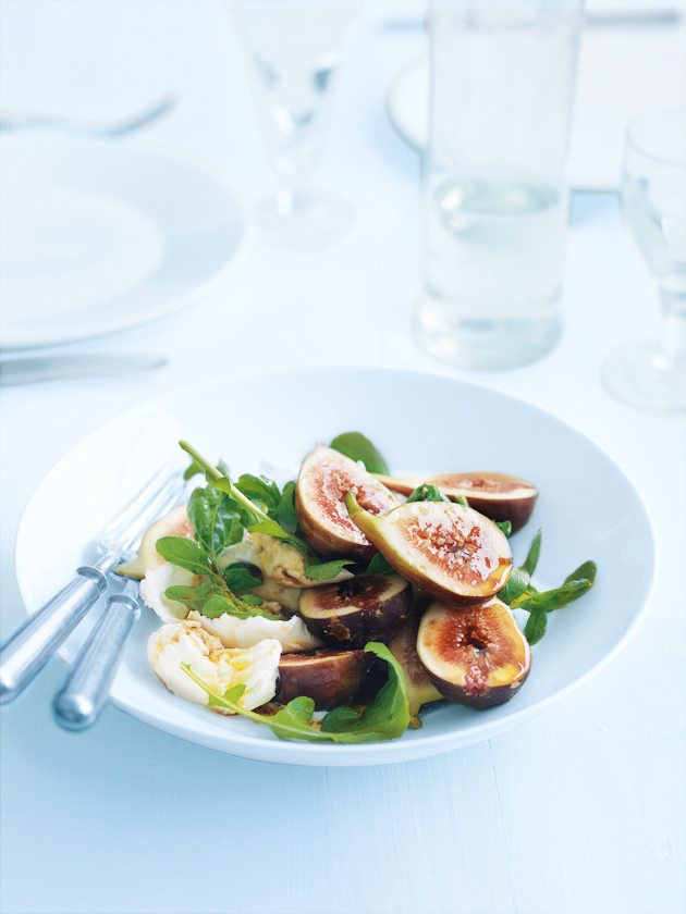 home / recipes / mains / salads / fig and mozzarella salad