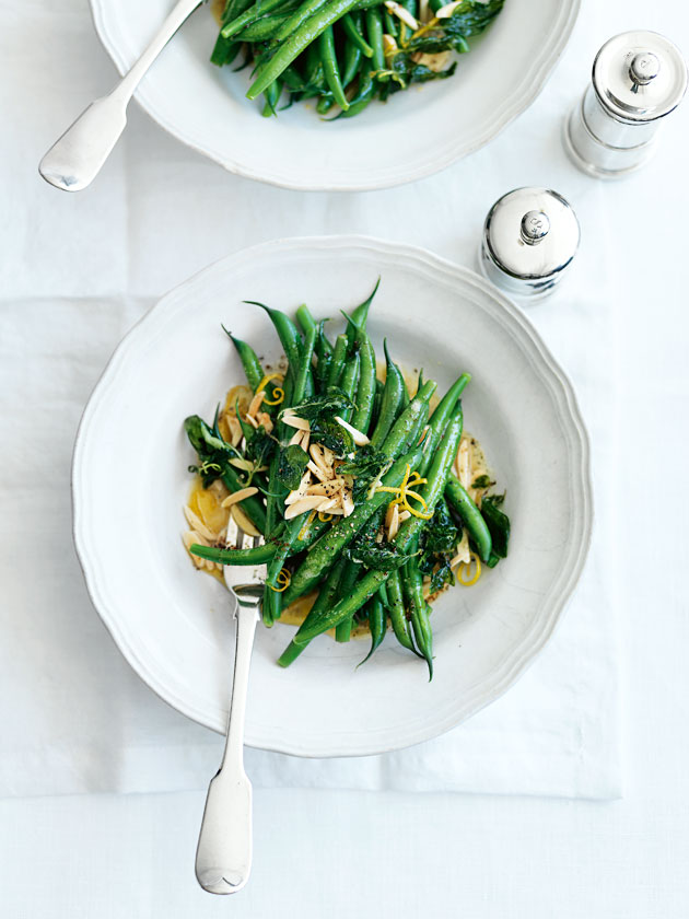 Green Beans With Almonds Oregano And Lemon | Donna Hay