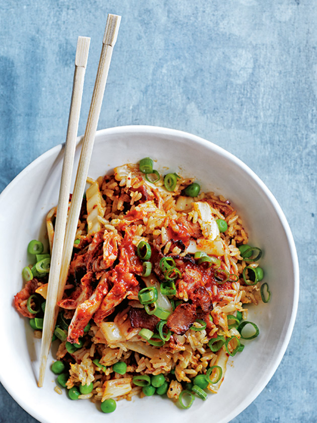 kimchi bacon fried rice and eggs recipe yummly bacon kimchi fried rice ...