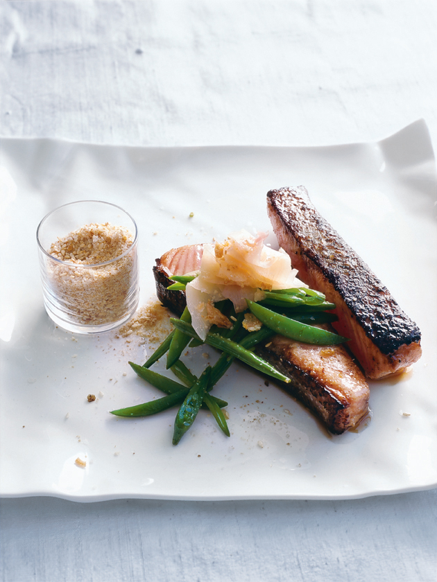 miso salmon with sesame salt