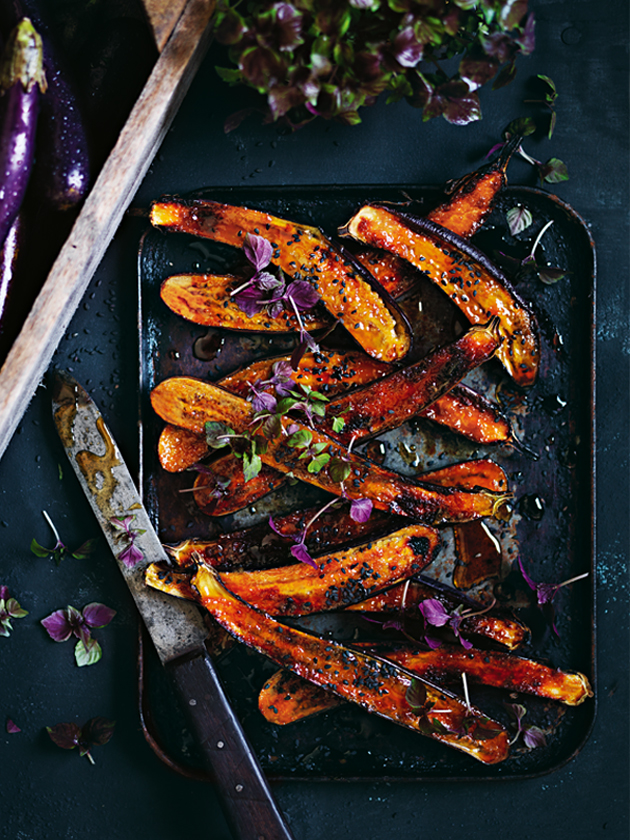 Ginger And Miso Glazed Eggplant | Donna Hay