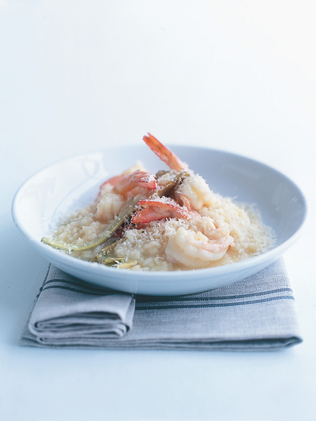home / recipes / / prawn, artichoke and lemon baked risotto