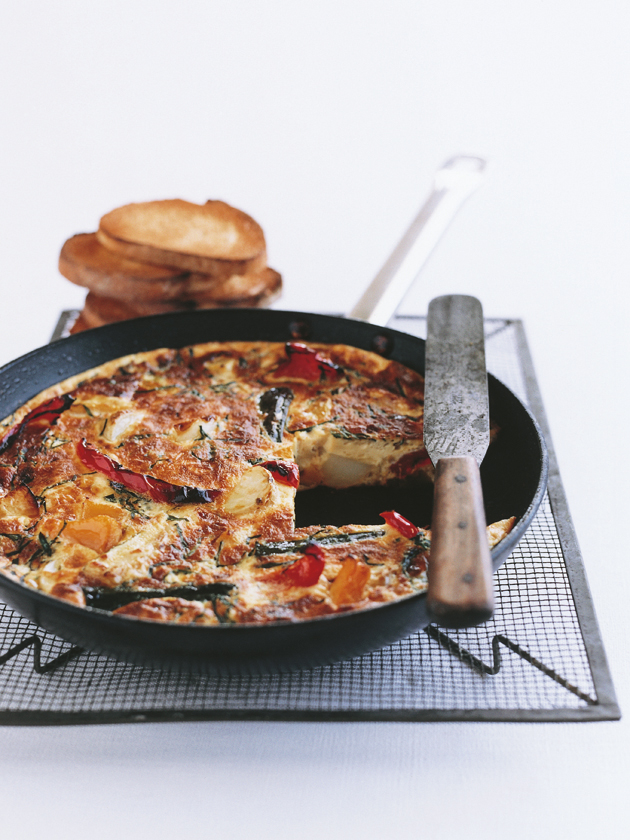 home / recipes / / vegetables / roast vegetable frittata
