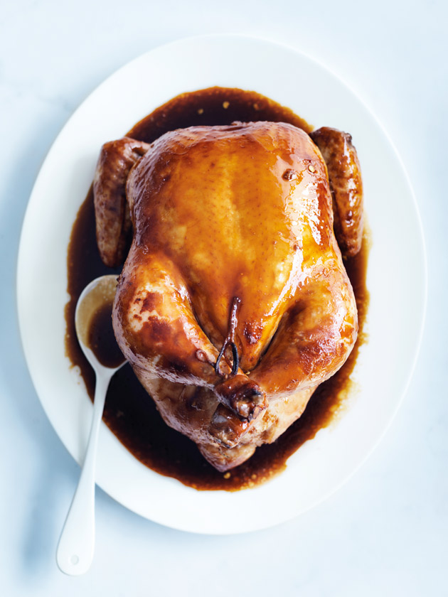 home / recipes / / ginger and soy roast chicken