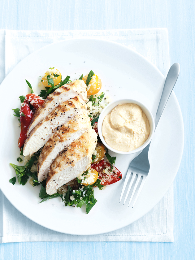 spiced chicken with couscous