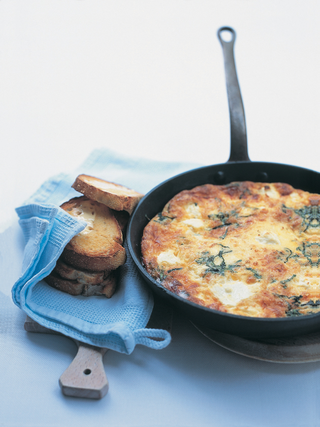three-cheese frittata