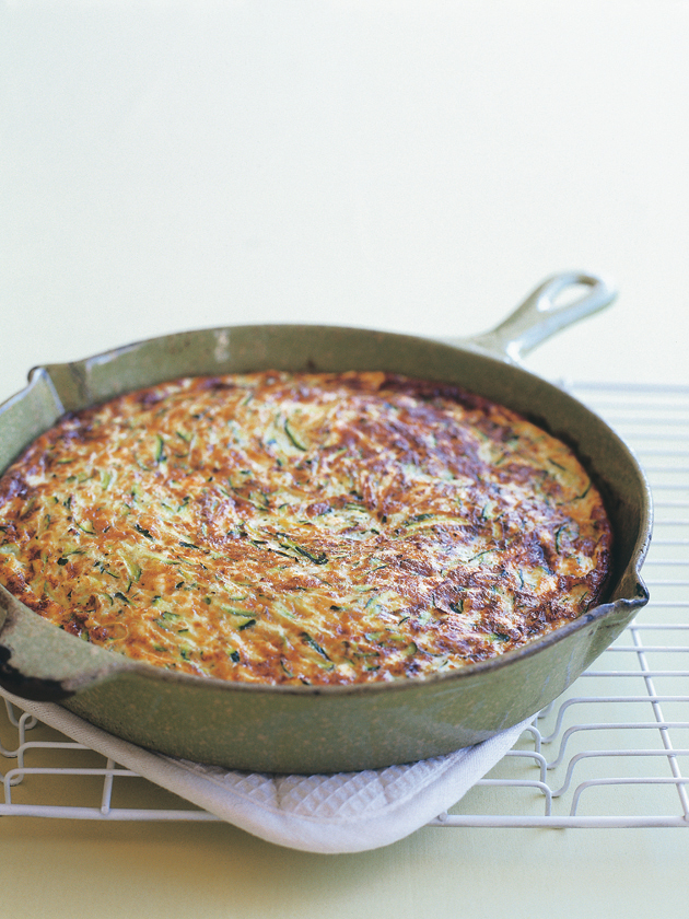 home / recipes / / zucchini and ricotta frittata