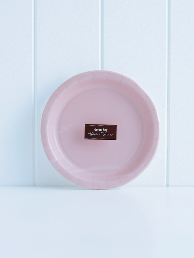 paper plates – pink
