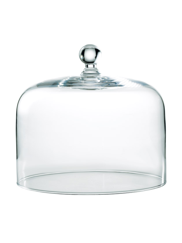 large glass cake dome
