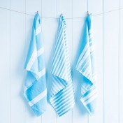 tea towel set - beach blue