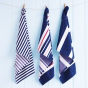 tea towel set - beach indigo