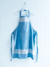 cotton adults' apron – capri blues