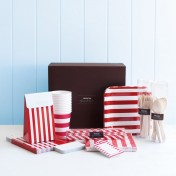 complete party ware hamper - red stripes