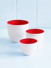 small bowls set – red