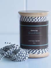 cotton twine – navy and white