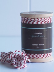 cotton twine – red and white