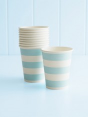 paper cups – striped blue