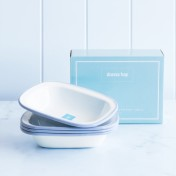 enamel rectangular pie dish – small set of 4