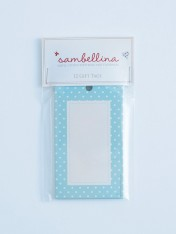 polka dot gift tags – blue