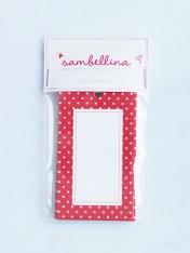 polka dot gift tags – red