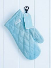 oven mitt – pale blue