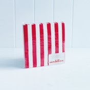 paper napkins candystripe – red