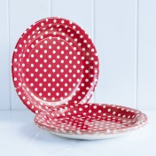 paper plates – polka dot red