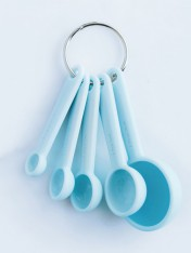 silicone measuring spoons - blue