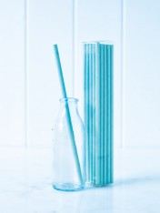 paper straws – blue - pack of 25
