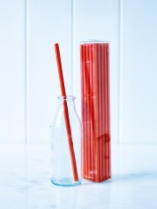 paper straws – red - pack of 25