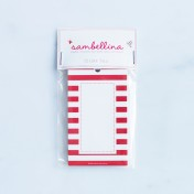 striped gift tags – red