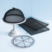 wireware and cake stand set – large green