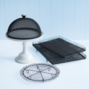 wireware and cake stand set – small green