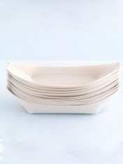 wooden boat dish – large