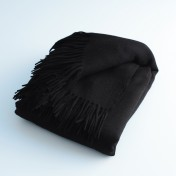 wool and cashmere throw - black