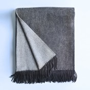 wool and cashmere throw - charcoal