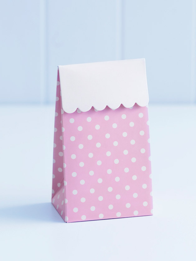 party treat boxes – pink polka