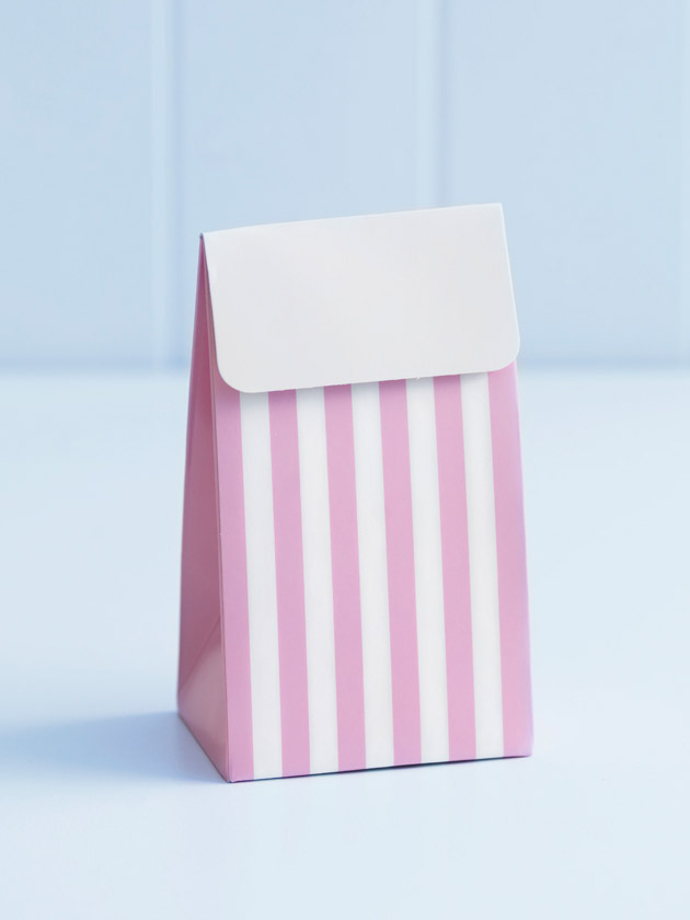 party treat boxes – pink stripes