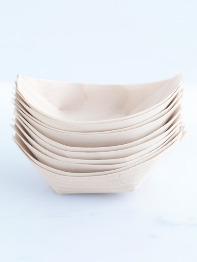 wooden boat dish – small