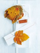 autumn leaves napkin rings