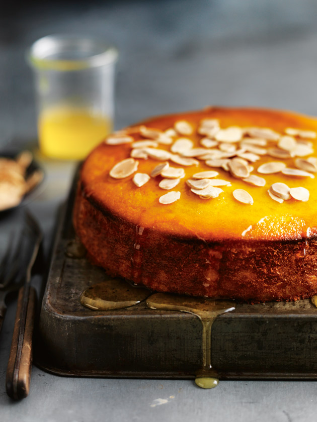 FLOURLESS MANDARIN + POLENTA SYRUP CAKE SOAKED IN A CITRUS SYRUP, THIS BEAUTIFUL CAKE MAKES THE PERFECT SLICE